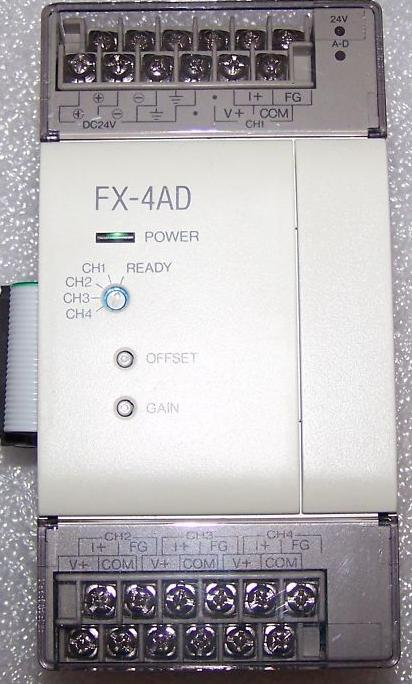 FX-4AD,4 Channel Analogue Input Module, Analog to digital converter